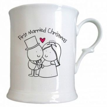 Chilli & Bubble's First Married Christmas Half Pint Tankard